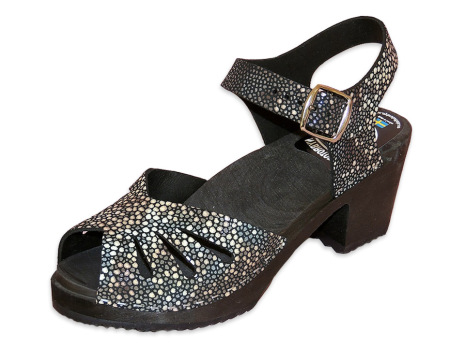 Träskosandal Butterfly Stingray Black Hög