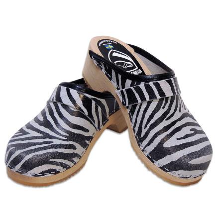 Barnträskor Classic Zebra