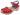 Träskosandal Butterfly Röd Matt 5cm