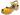 Träskosandal Butterfly Gul 5 cm