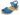 Träskosandal Butterfly Blå Nubuck