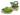 Träskosandal Butterfly Grön 5 cm